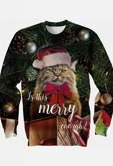 Bluza z kotem w czpce mikoł...