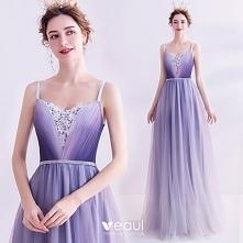 Uroczy Fioletowe Sukienki W...