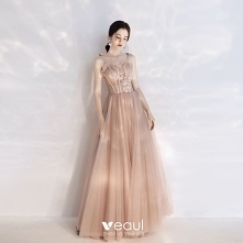 Elegancka Szampan Sukienki ...
