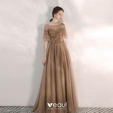Eleganckie Brązowy Sukienki...