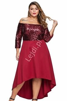 Czerwona sukienka plus size...