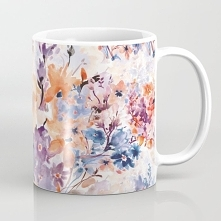 Floral watercolor - series 1 Coffee Mug  Kubek ze wzorem - Floral watercolor ...