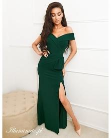 Ciemna, długa sukienka na s...
