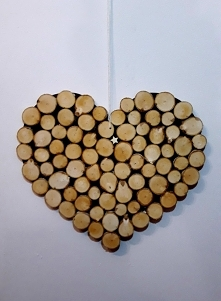 Ręcznie wykonane serce z br...