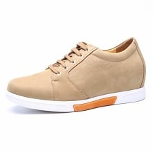 Yellow Chamois Leather Elevator Shoes - are you short and don't know how...