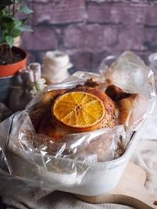 Kurczak pieczony z pomarańc...