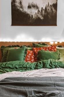 Sypialnia w świątecznym kli...