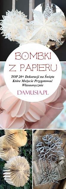 Bombki z Papieru – TOP 20+ ...