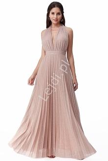 Długa suknia lureksowa w ko...