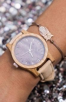 Neat Drewniany damski zegarek Classic 38MM N080