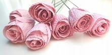 Kwiaty z krepiny na bukiety...