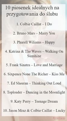 Lista piosenek na odstresow...