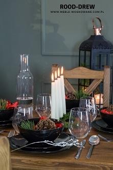 Wystrój stołu świątecznego