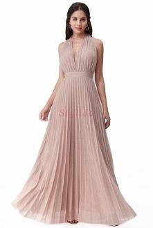 Długa lureksowa suknia plisowana z połyskującą nicią. Suknia na wesele, suknia na studniówkę, suknia na sylwestra, sukienka na bal, sukienka na sylwestra, sukienki, suknia pliso...