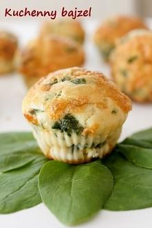 Muffiny szpinakowo-serowe