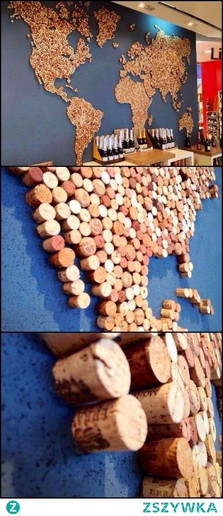 mapa z korków po winie ;)
