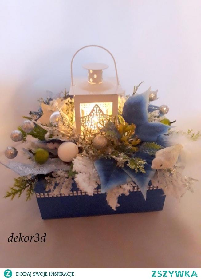 dekoracja z lampionem