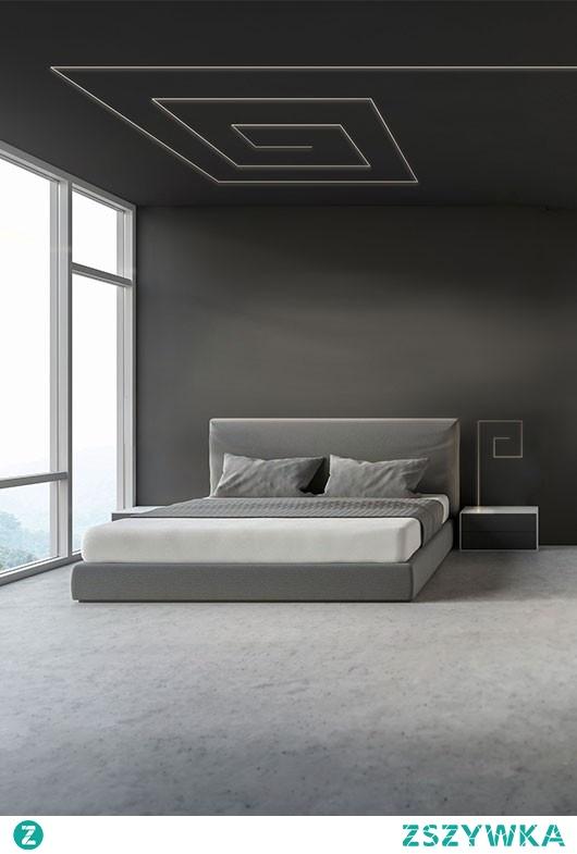 Nowoczesne oświetlenie LED w sypialni. Sprawdź pozostałe inspiracje na klusdesign pl