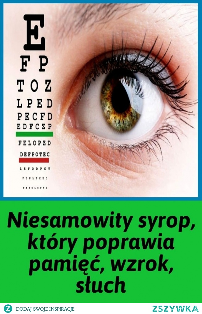 Niesamowity syrop, który poprawia pamięć, wzrok, słuch