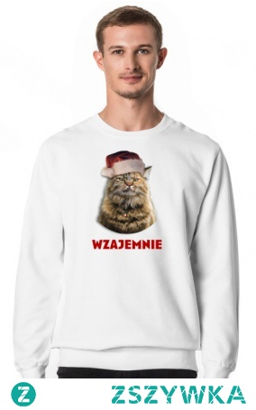 Kot na święta, świąteczne życzenia, wzajemnie. Prezent na święta, mikołajki. Zimowy, na zimę dla męża, chłopaka, narzeczonego.    #święta #kot #życzenia #prezent #pomysłnaprezent