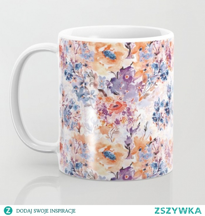 Floral watercolor - series 1 Coffee Mug  Kubek ze wzorem - Floral watercolor - series 1