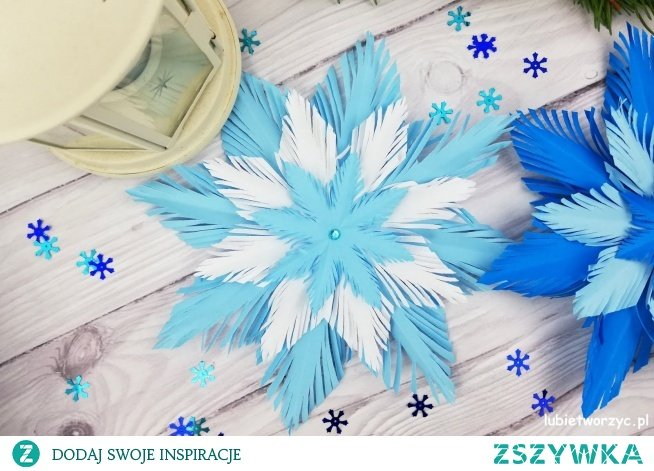 Tutorial ukazujący sposób wykonania przepięknej, papierowej śnieżynki :)