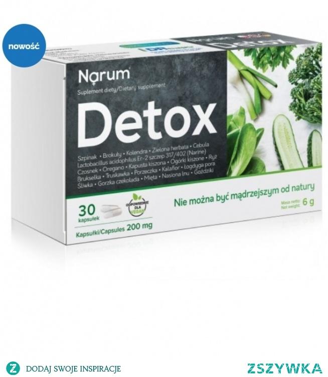 Narum Detox to suplement oparty o probiotyk Narine i składniki detoksykujący organizm.