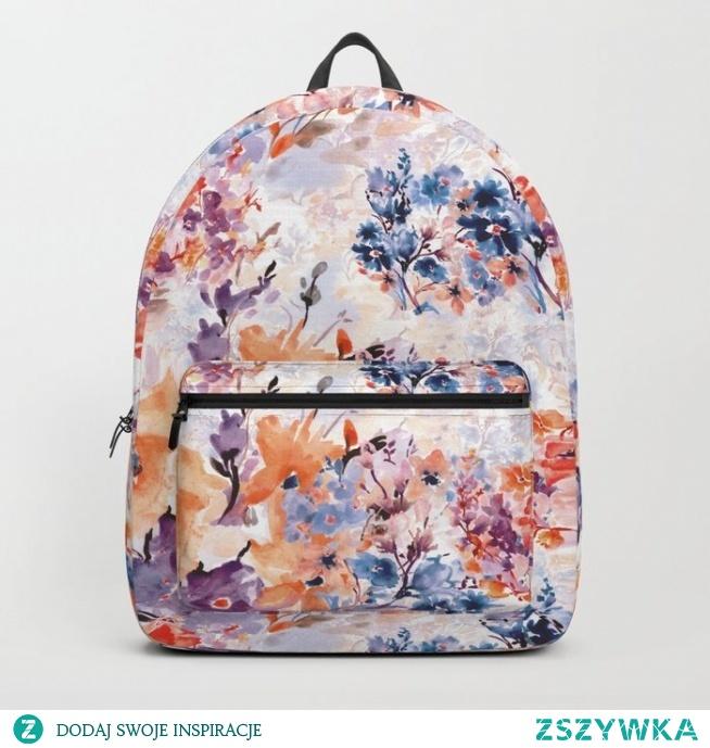 Plecak ze wzorem Floral watercolor - series 1 od WzoryOzdobne