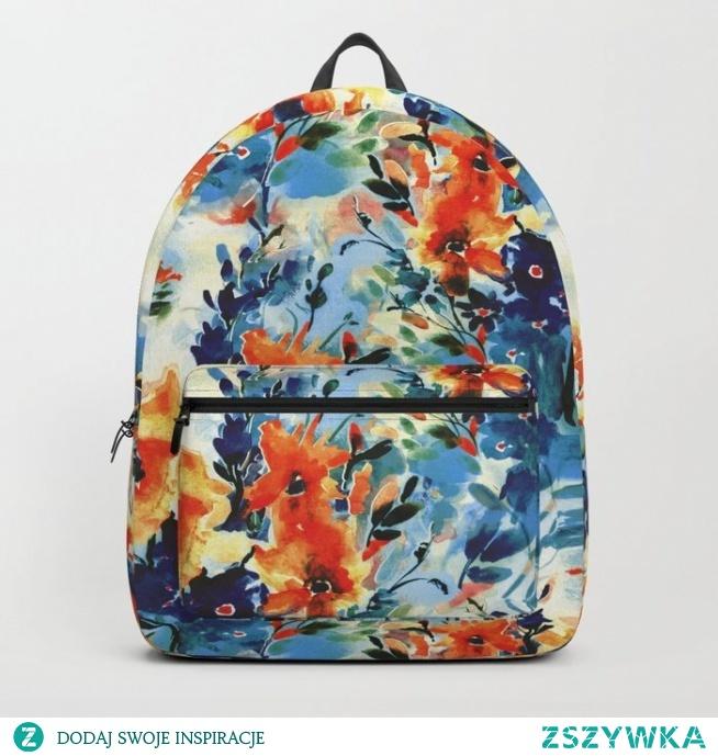 Plecak ze wzorem Floral watercolor - series 2 od WzoryOzdobne