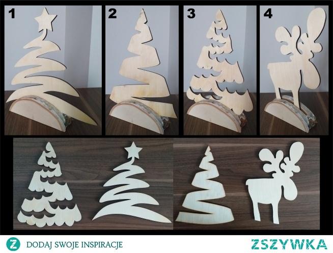 Takie dekoracje świąteczne, wycinane ze sklejki, oryginalne.