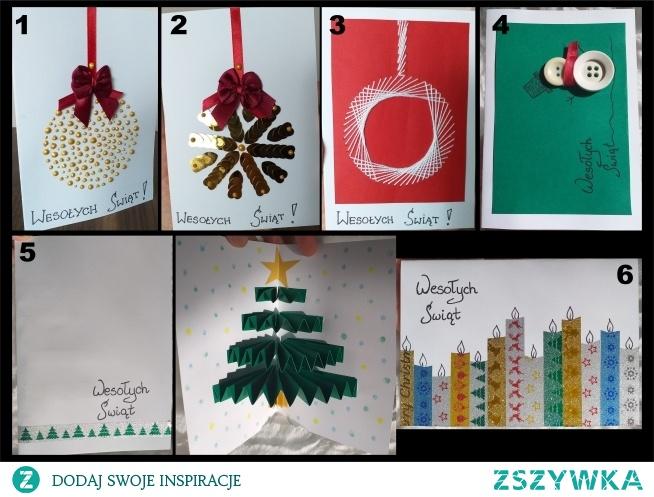 Ręcznie robione kartki, sama przyjemność wykonania :)