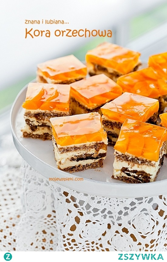 Kora orzechowa - pyszne ciasto które pokocha cała rodzina