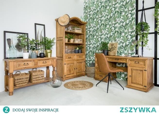 drewniane meble biurowe wykończone naturalnym woskiem meble-woskowane.com.pl