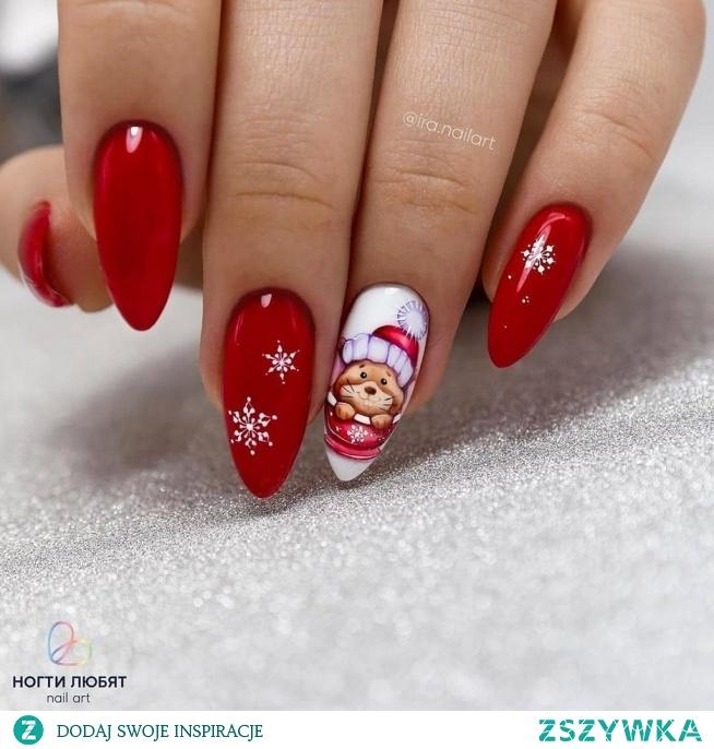 Święta tuż tuż, więc mamy dla Was iście świąteczną stylizację!  Autor: ira.nailart