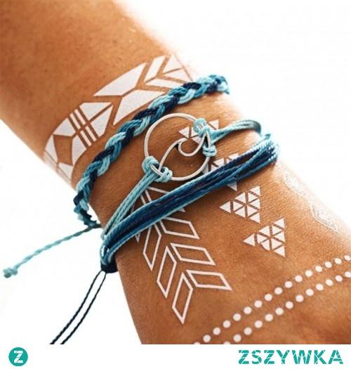 Zestaw trzech sznurkowych bransoletek w cenie 9,60 zł. Kliknij w zdjęcie, aby przejść do sklepu Silvona.pl.