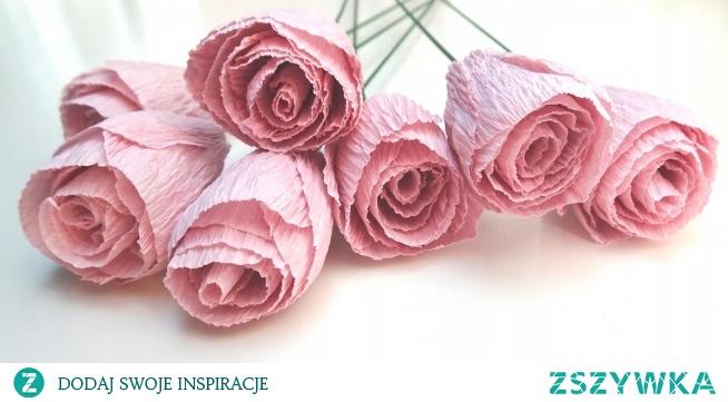 Kwiaty z krepiny na bukiety lub ściankę