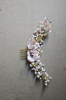 Grzebyk do włosów z kwiatami