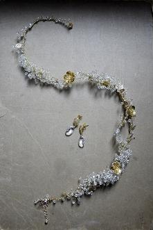 komplet biżuterii wianek, k...
