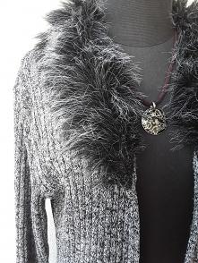Sweterek długi z futerkiem ...