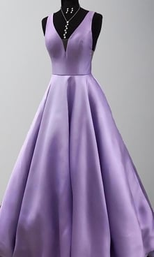 PURPLE PRINCESS PROM GOWNS