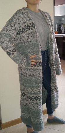 sweter na drutach z prutej ...