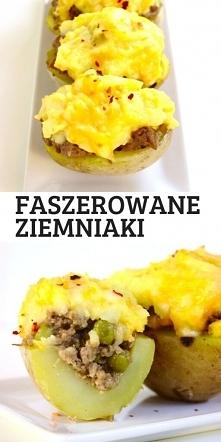 Pieczone ziemniaki faszerow...