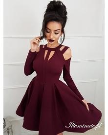 Rozkloszowana sukienka z ko...