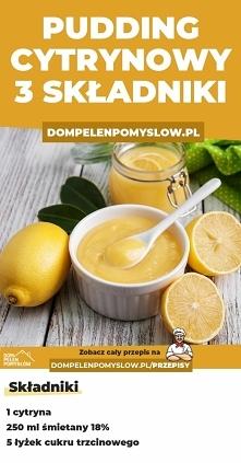 Pudding cytrynowy z 3 skład...