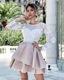 Jasna, rozkloszowana sukien...