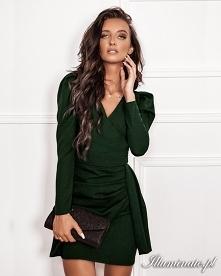 Butelkowa zieleń sukienka i...