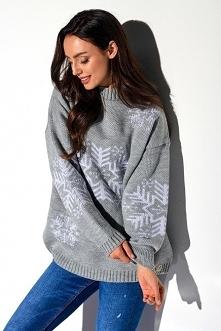 Sweter damski półgolf ze śn...