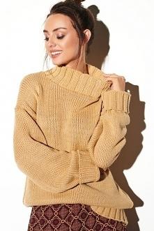 Swobodny sweter o luźnym kr...