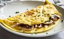 Omlet z pieczarkami i szynką