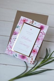 Eleganckie zaproszenie kwia...